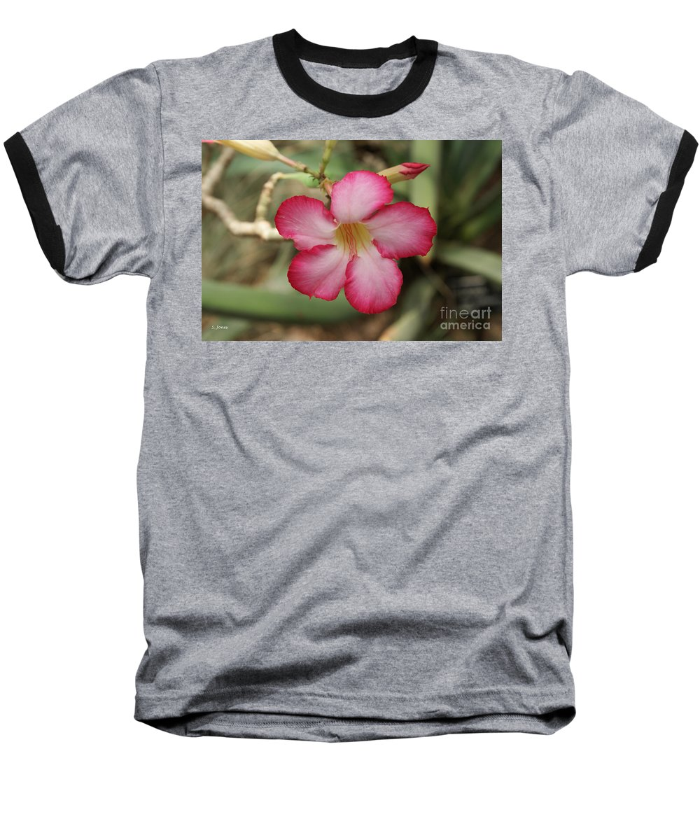 Floral Baseball T-Shirt featuring the photograph Elegant by Shelley Jones