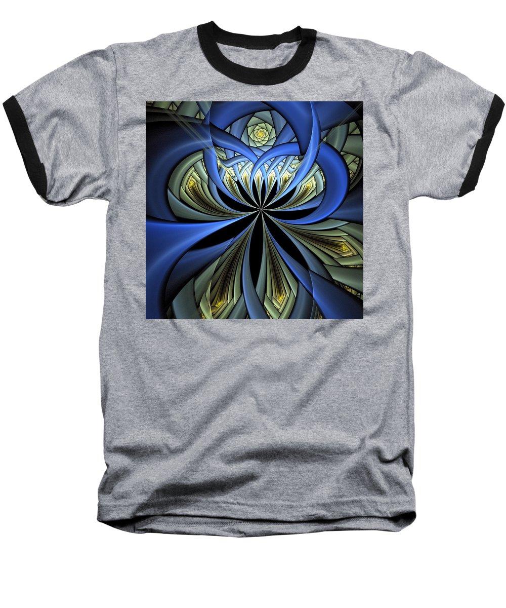 Digital Art Baseball T-Shirt featuring the digital art Embedded by Amanda Moore