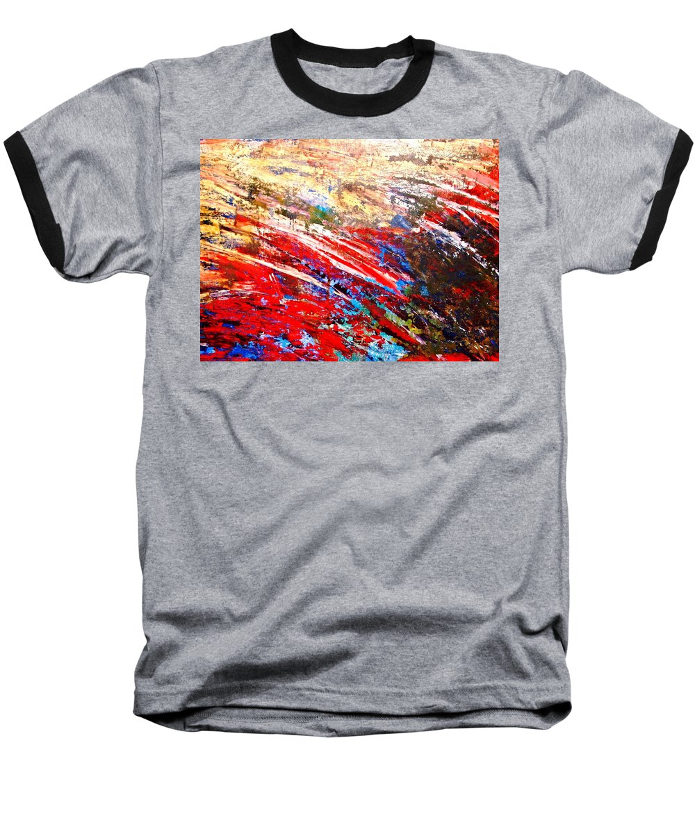 Expressionism Baseball T-Shirt featuring the painting Emotional Explosion by Natalie Holland