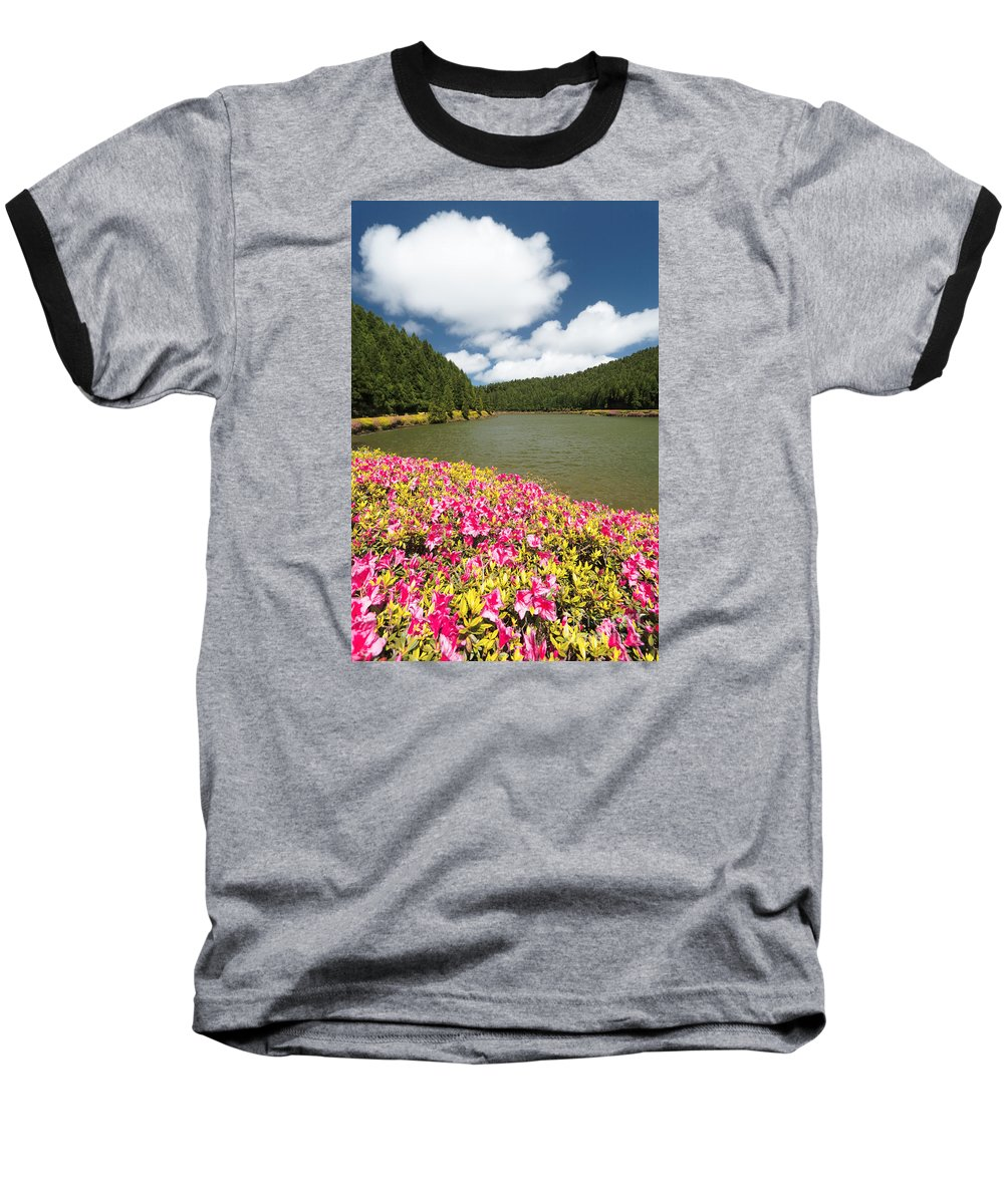 Portugal Baseball T-Shirt featuring the photograph Empadadas Lakes II by Gaspar Avila