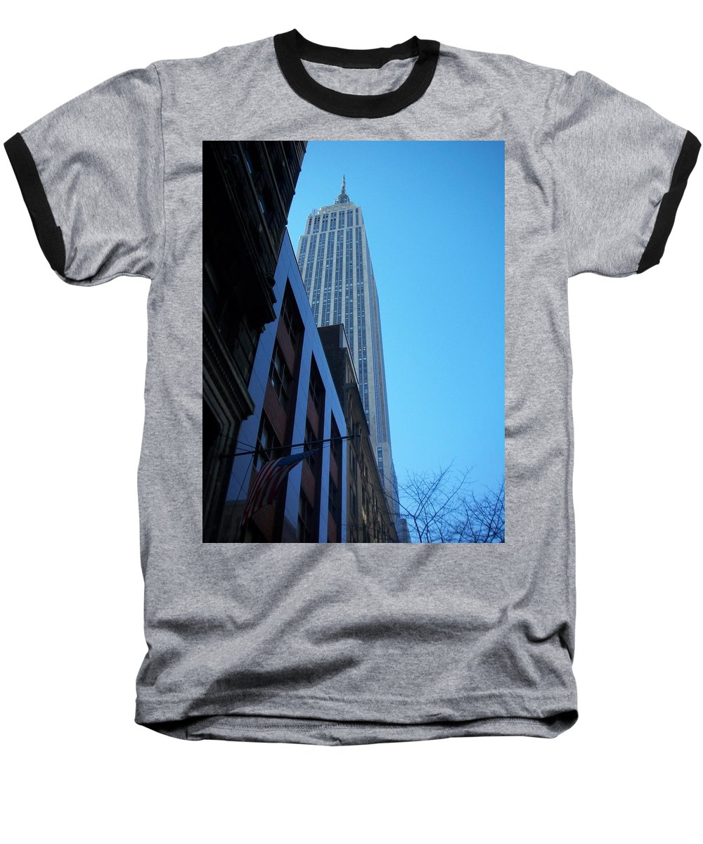 Emoire State Building Baseball T-Shirt featuring the photograph Empire State 1 by Anita Burgermeister