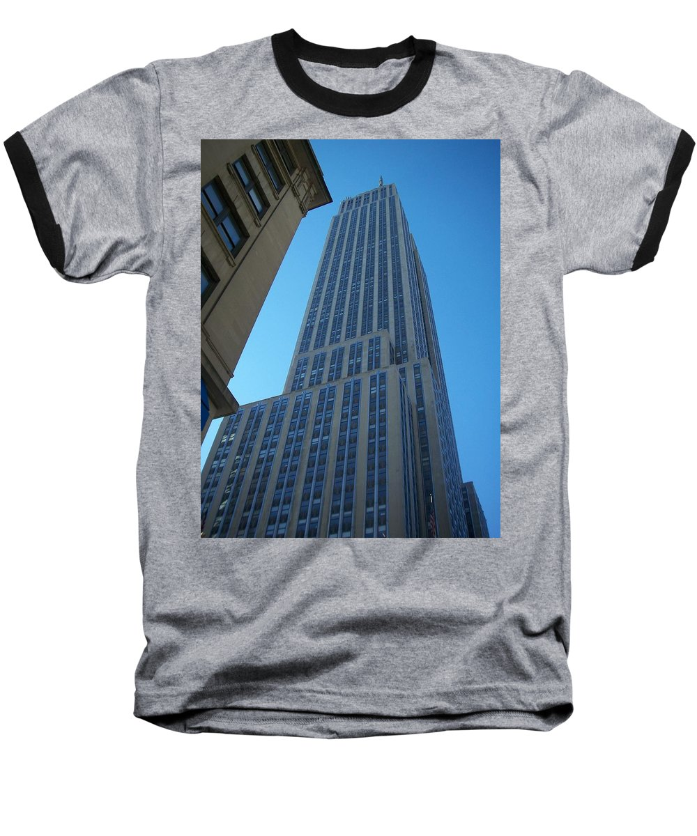 Emoire State Building Baseball T-Shirt featuring the photograph Empire State 2 by Anita Burgermeister