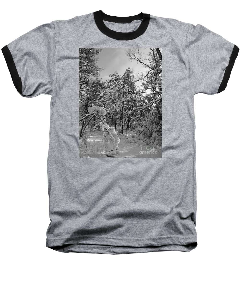 Black And White Baseball T-Shirt featuring the photograph Empty Travel by Chad Natti