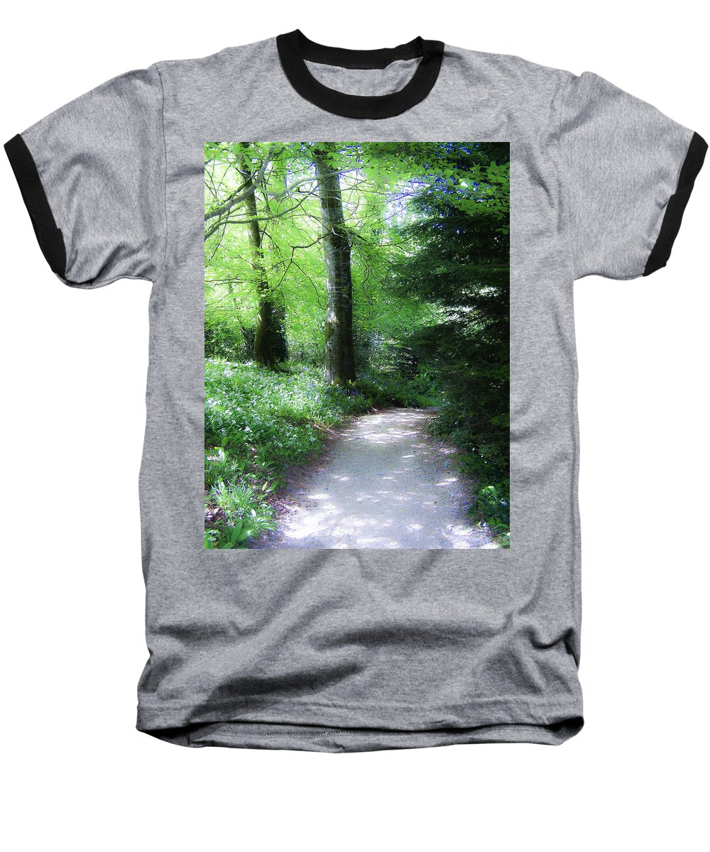 Ireland Baseball T-Shirt featuring the photograph Enchanted Forest At Blarney Castle Ireland by Teresa Mucha