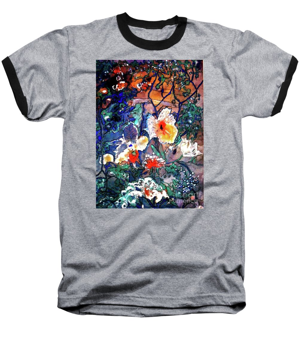 Landscape Baseball T-Shirt featuring the painting Enchanted Garden by Norma Boeckler