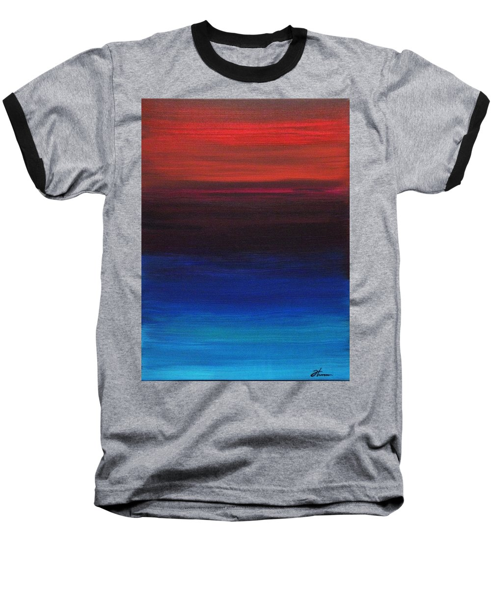 Original Baseball T-Shirt featuring the painting Endless by Todd Hoover