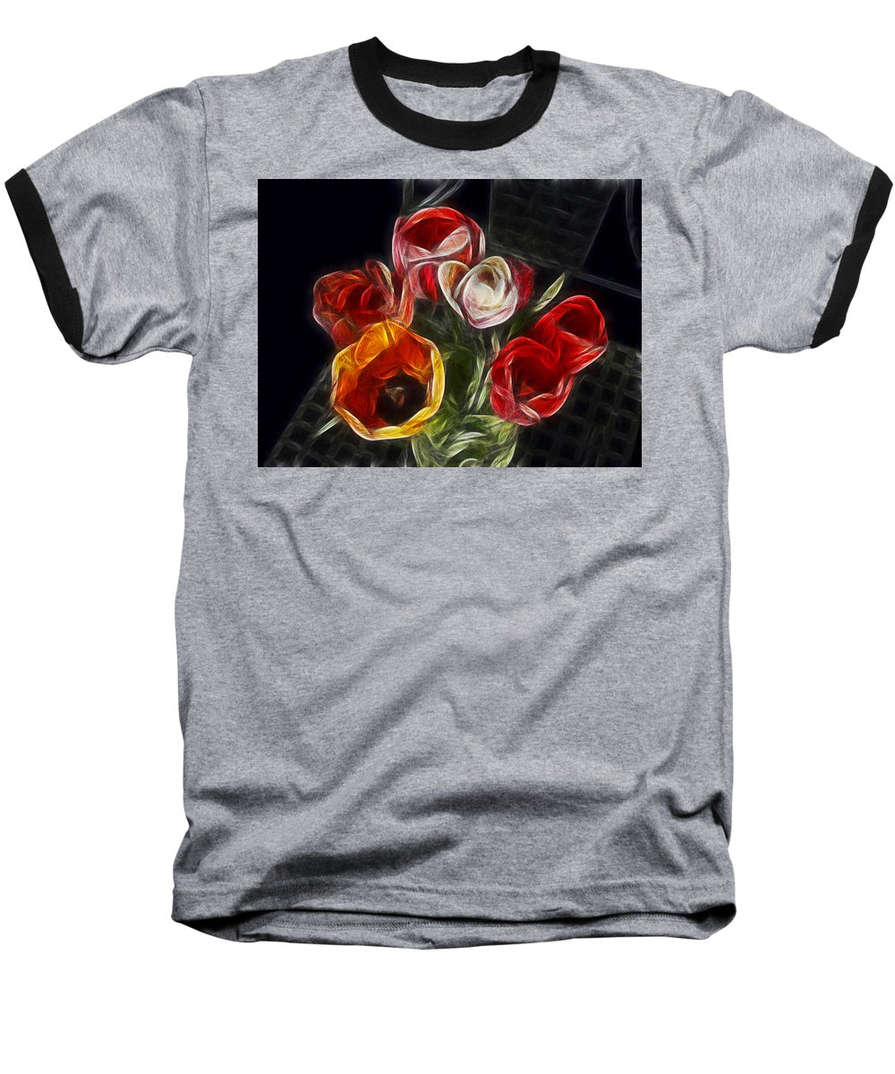 Tulip Baseball T-Shirt featuring the photograph Energetic Tulips by Joachim G Pinkawa