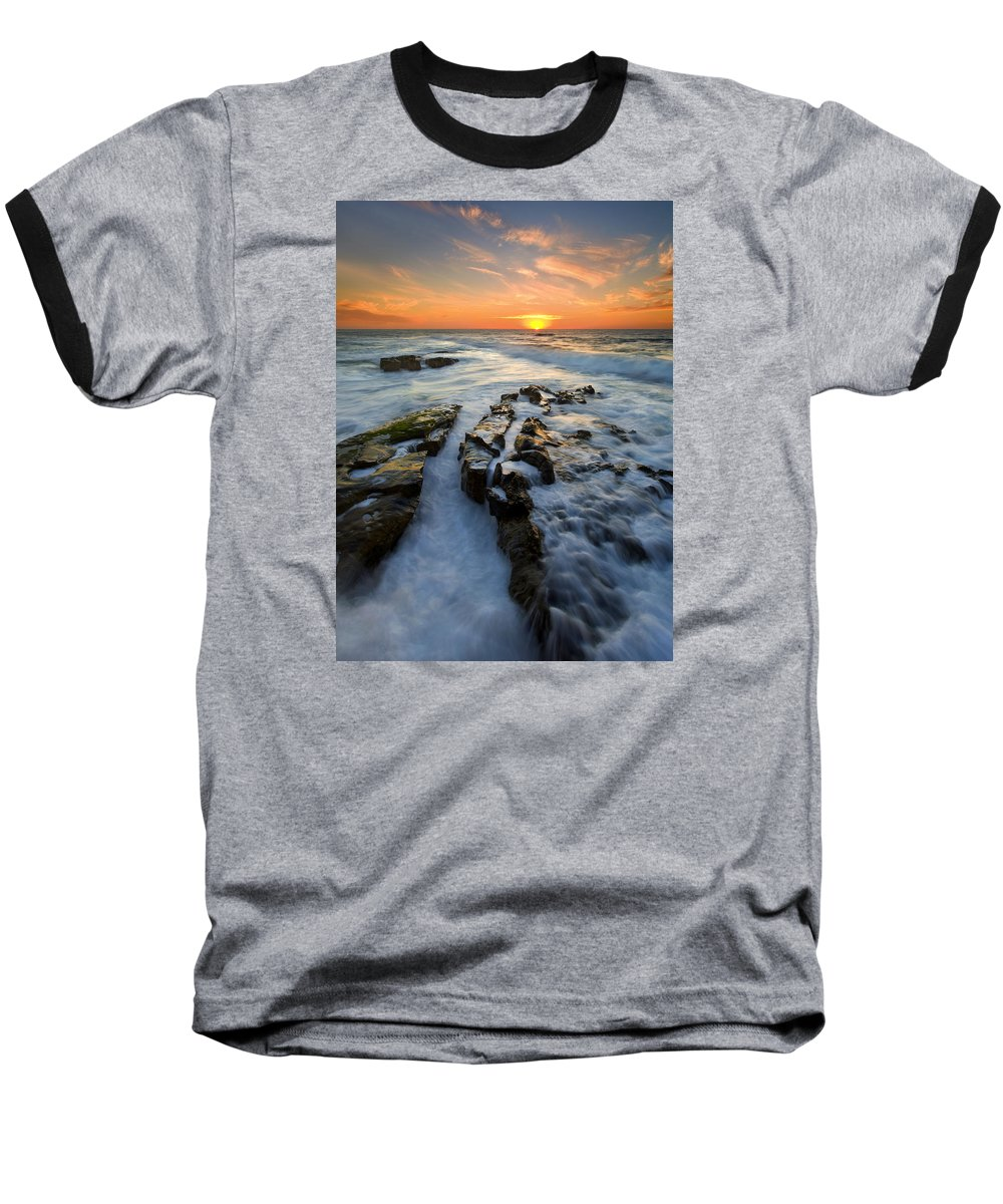 Sunset Baseball T-Shirt featuring the photograph Engulfed by Mike Dawson