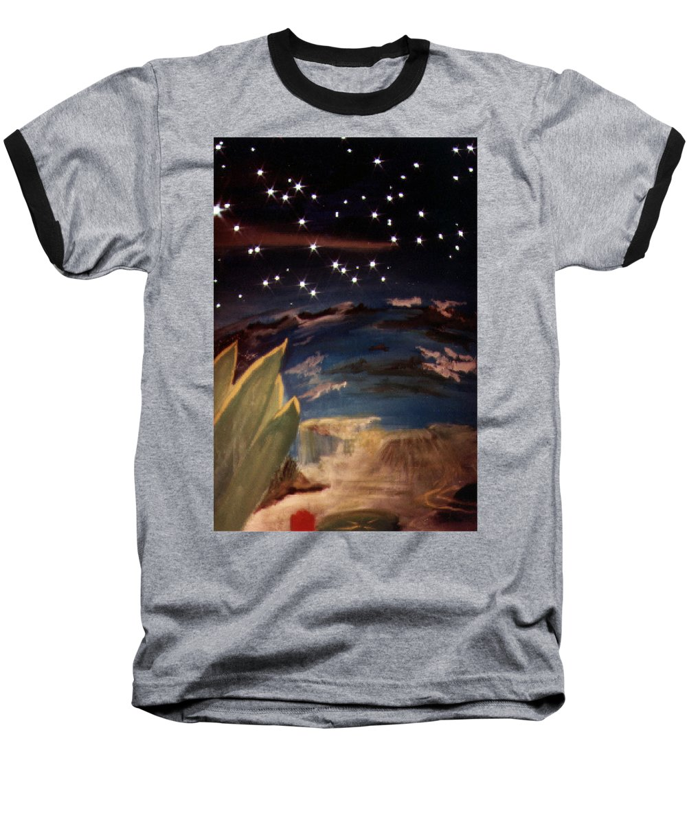 Surreal Baseball T-Shirt featuring the painting Enter My Dream by Steve Karol