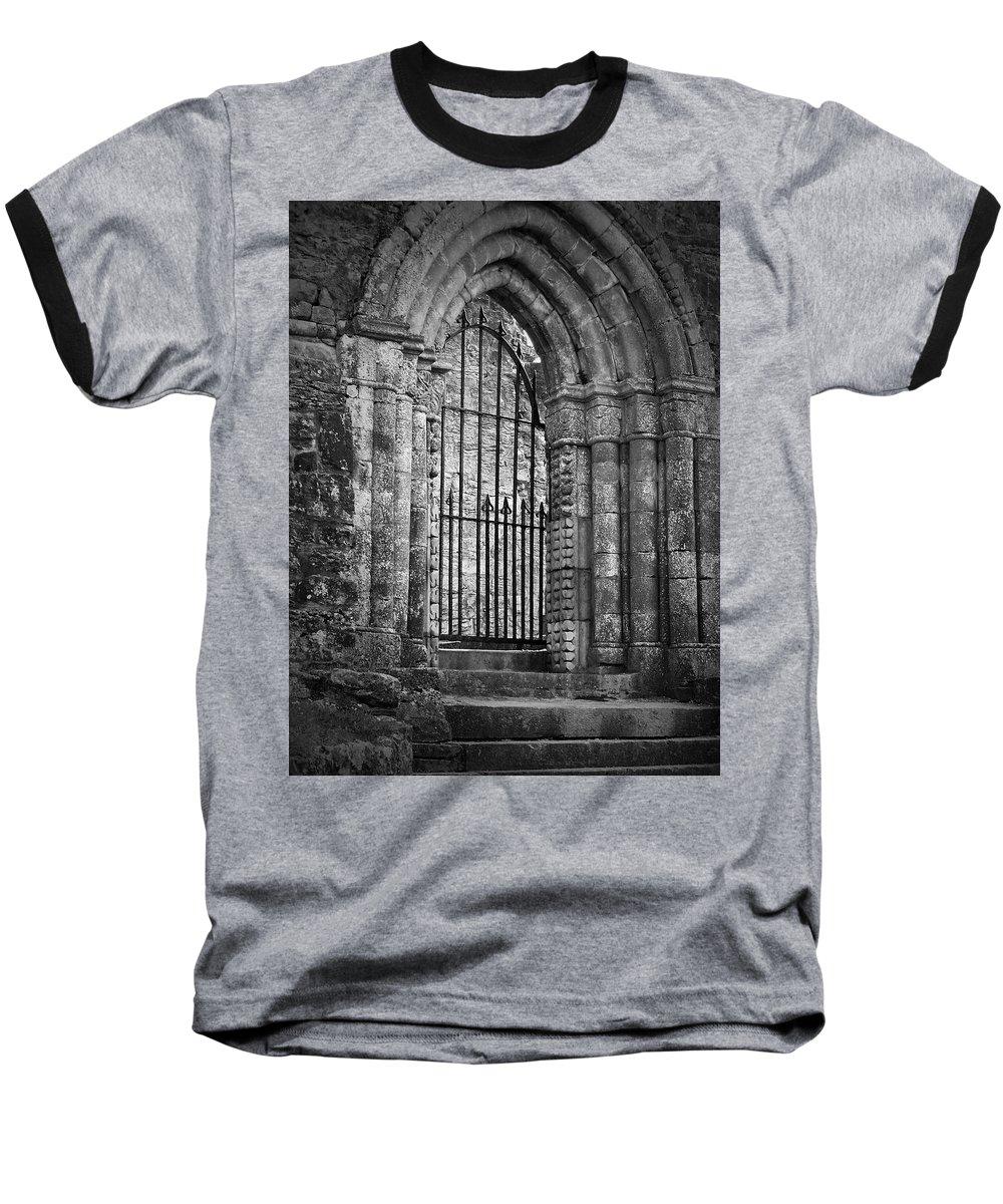 Irish Baseball T-Shirt featuring the photograph Entrance To Cong Abbey Cong Ireland by Teresa Mucha
