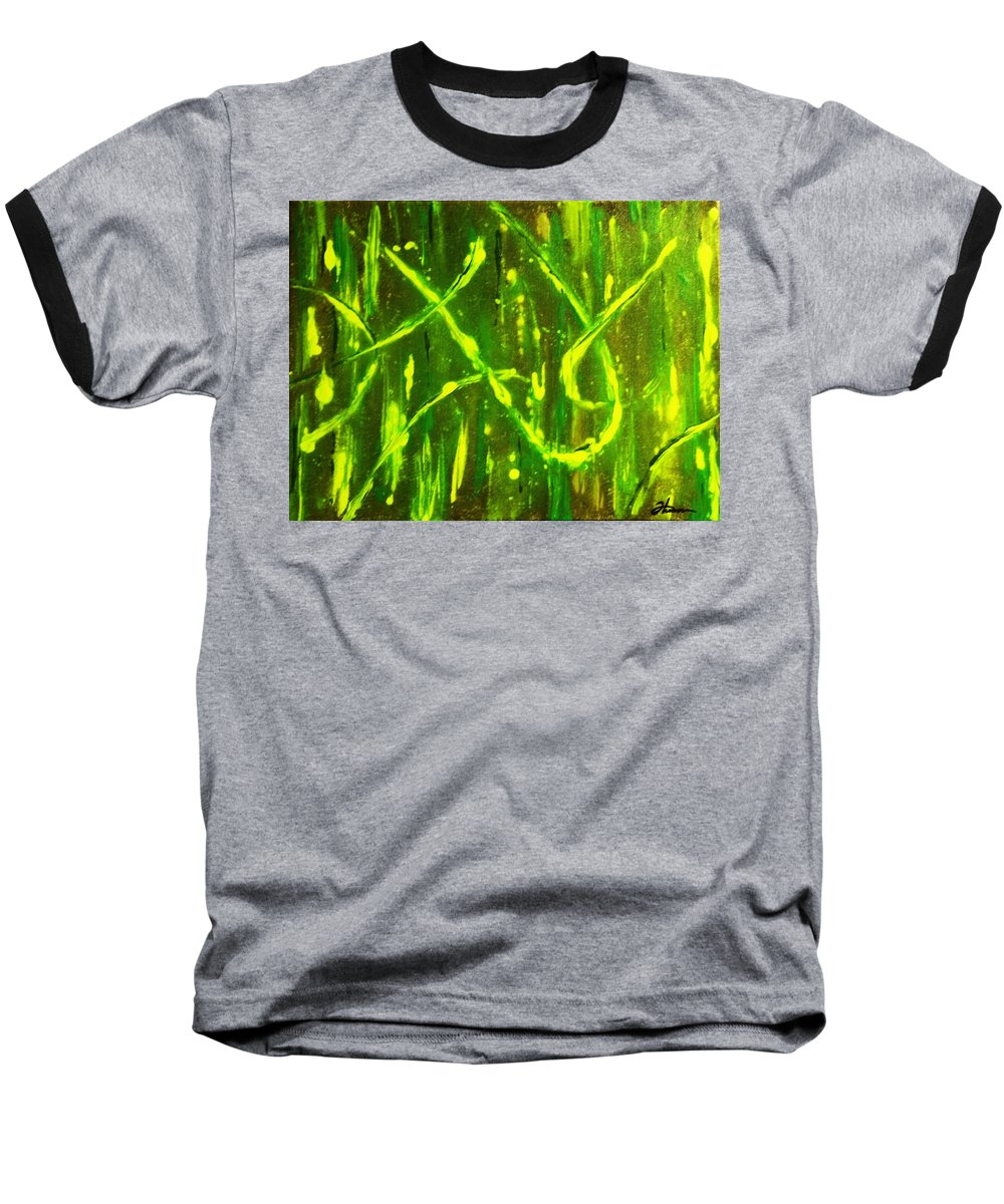 Abstract Baseball T-Shirt featuring the painting Envy by Todd Hoover