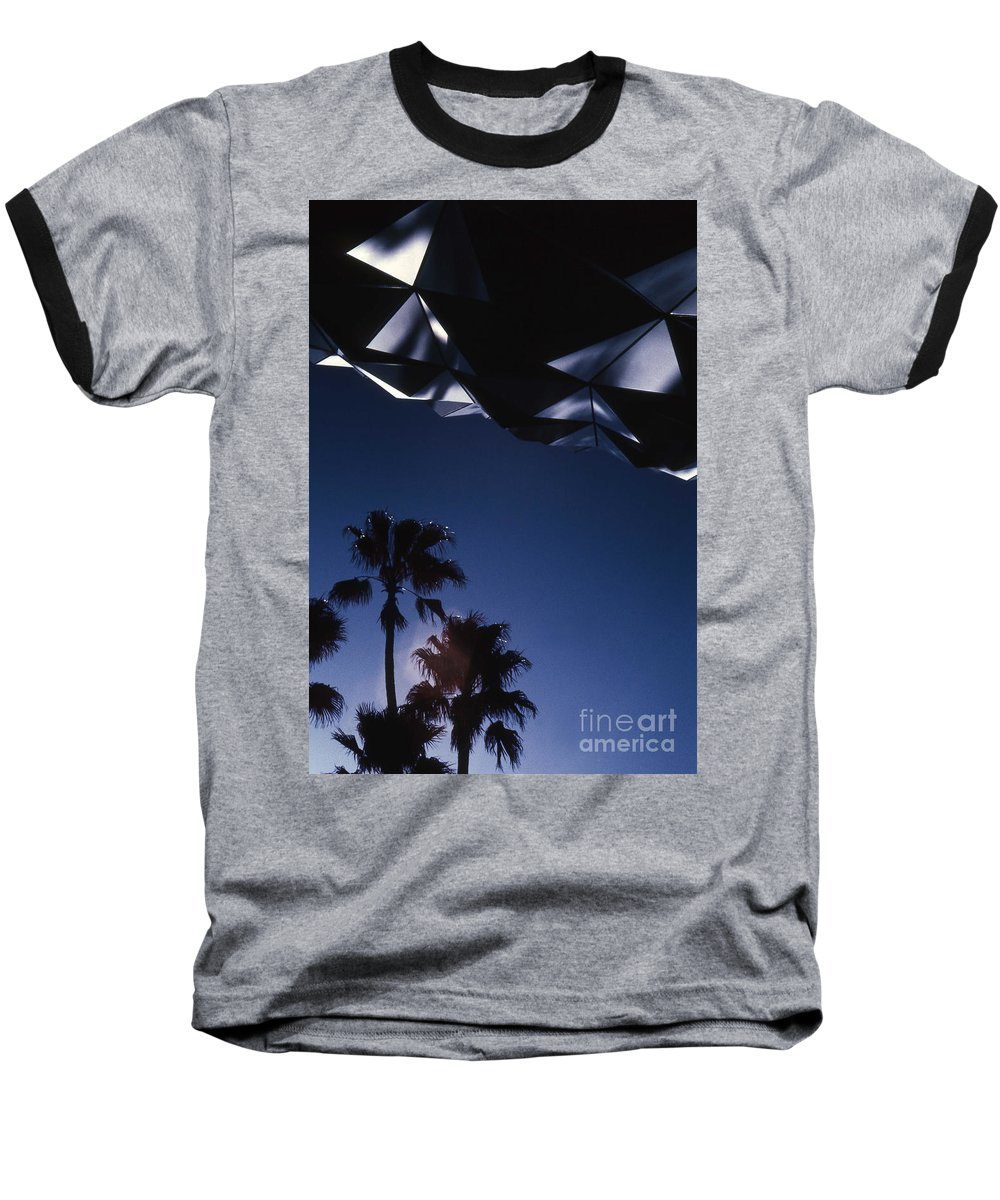 Epcot Baseball T-Shirt featuring the photograph Epcot Abstract by Richard Rizzo