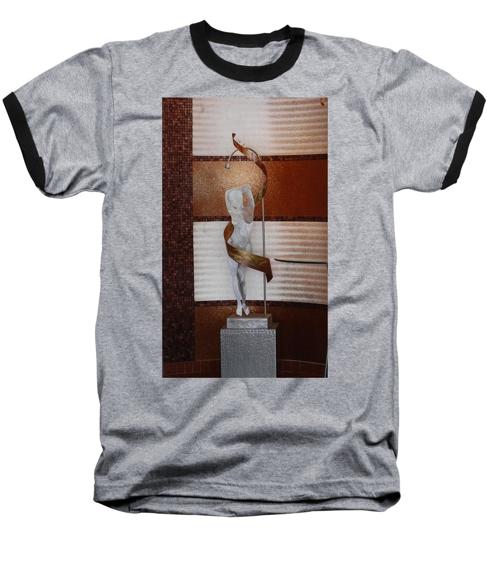 Statue Baseball T-Shirt featuring the photograph Erotic Museum Piece by Rob Hans