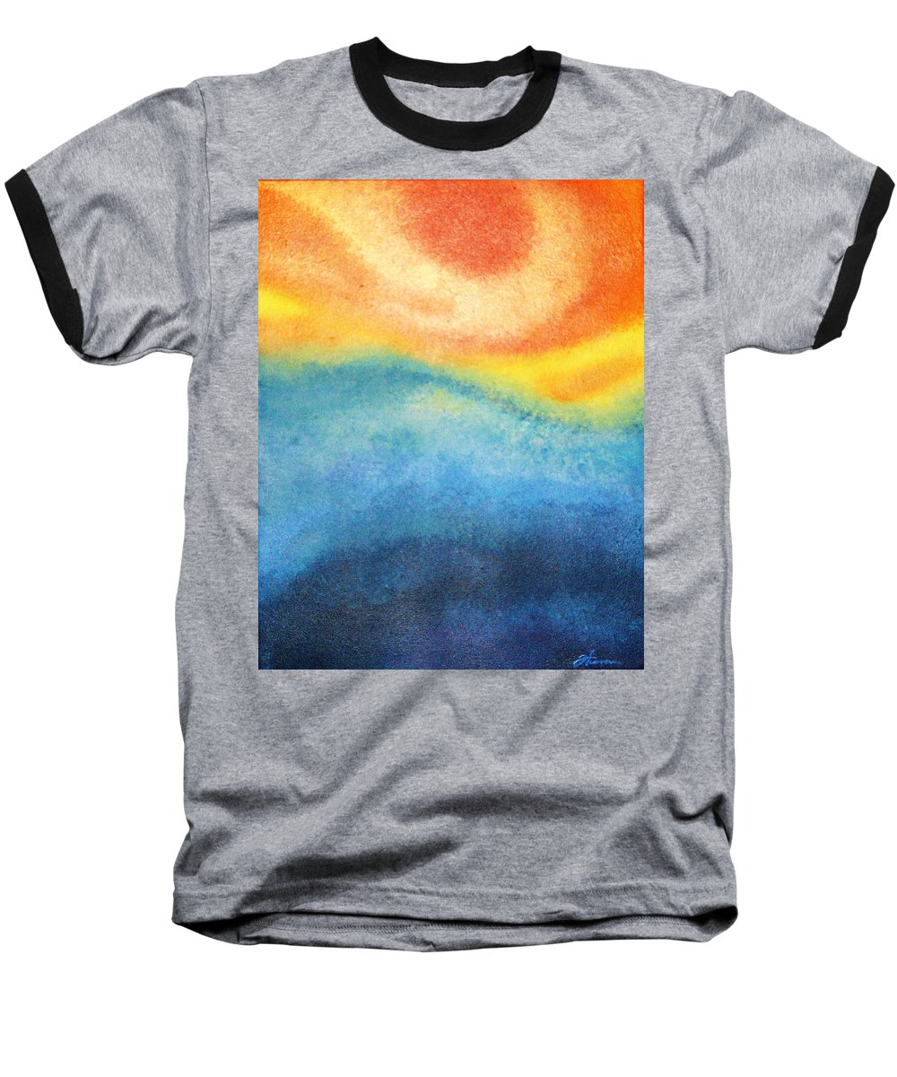 Escape Baseball T-Shirt featuring the painting Escape by Todd Hoover