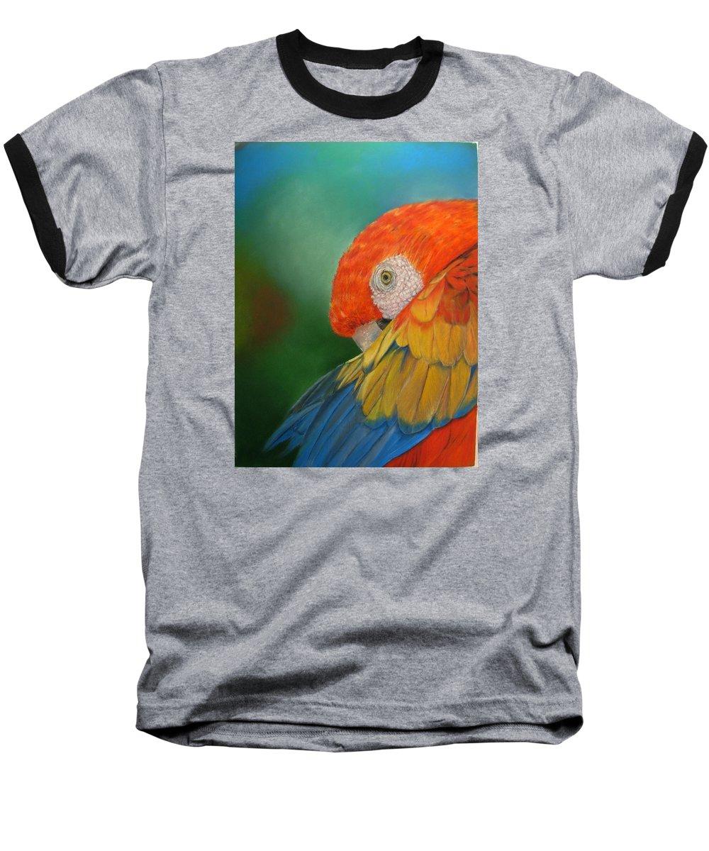 Bird Baseball T-Shirt featuring the painting Escondida by Ceci Watson