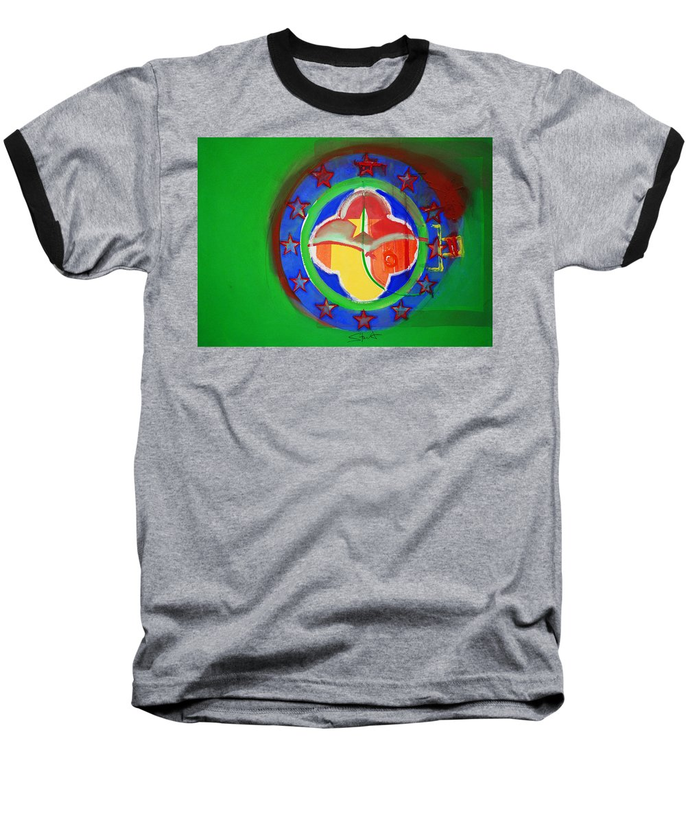 Symbol Baseball T-Shirt featuring the painting Euromarine by Charles Stuart