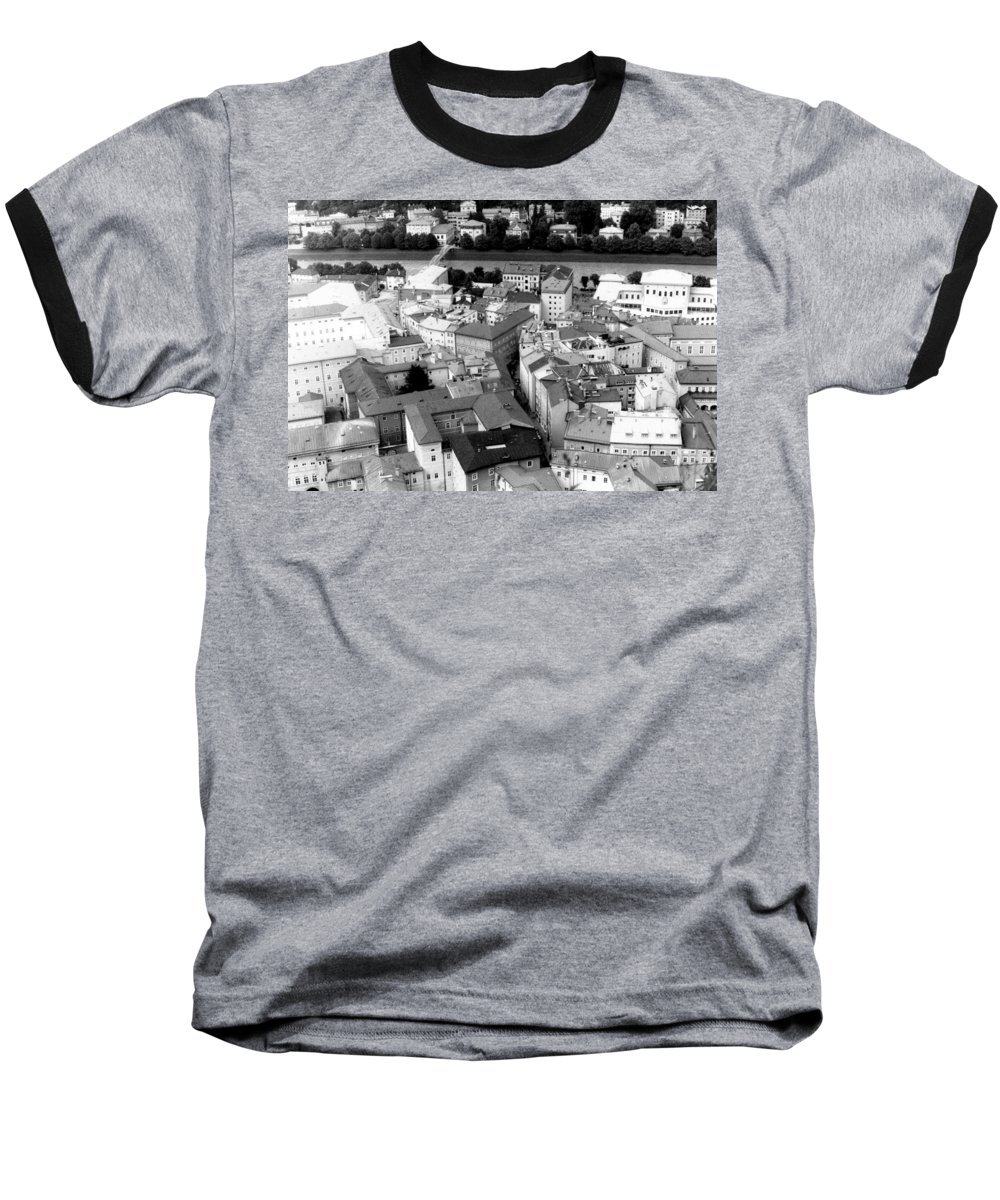 Rofftops Baseball T-Shirt featuring the photograph European Rooftops by Michelle Calkins