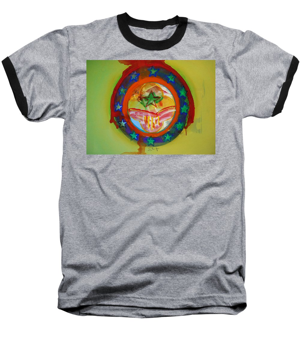 Baseball T-Shirt featuring the painting European Union by Charles Stuart