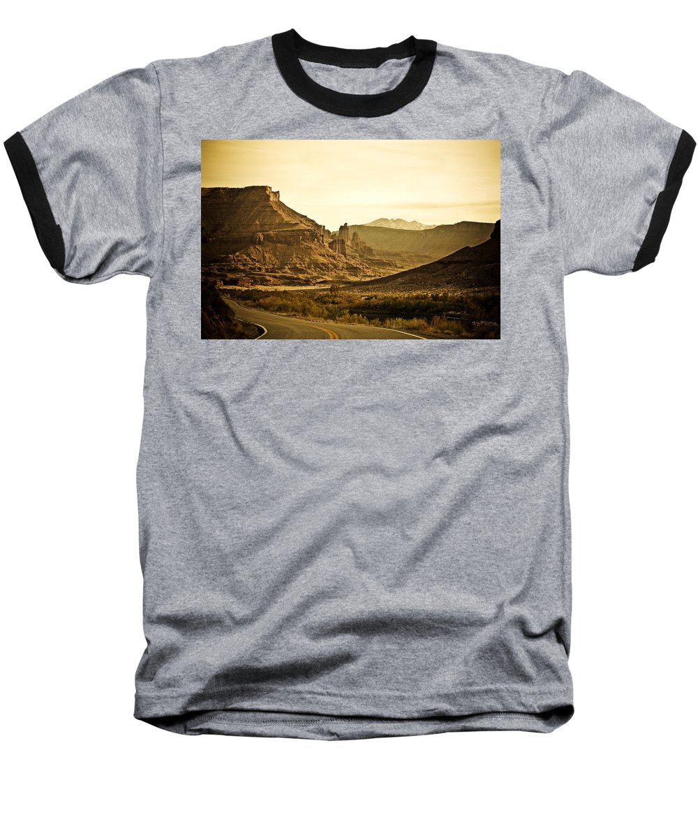 Americana Baseball T-Shirt featuring the photograph Evening In The Canyon by Marilyn Hunt