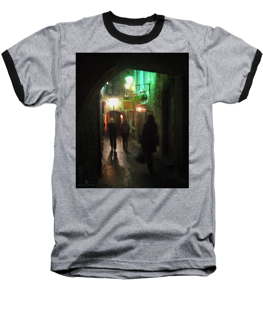 Ireland Baseball T-Shirt featuring the photograph Evening Shoppers by Tim Nyberg