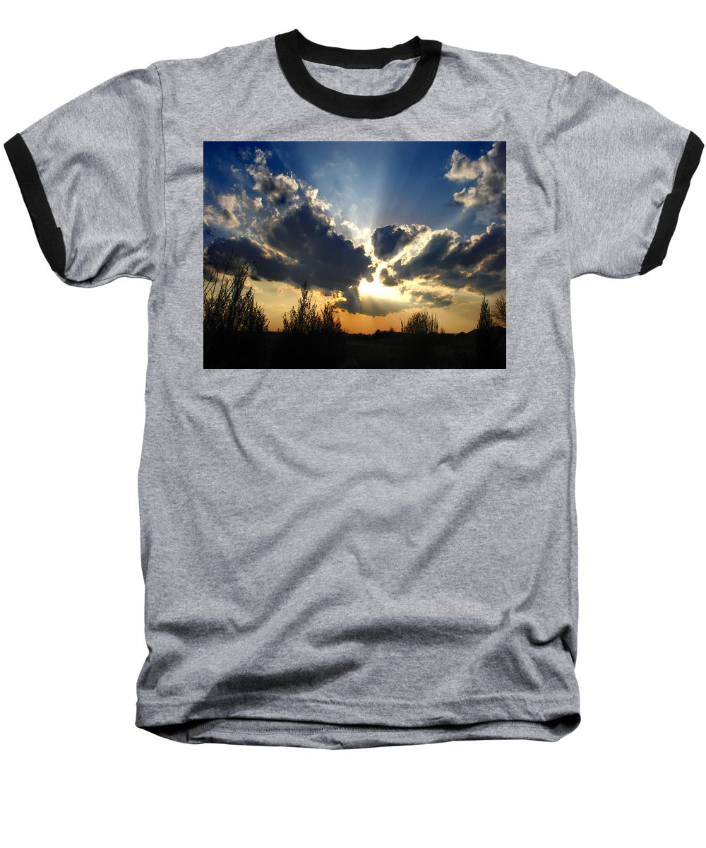 Landscape Baseball T-Shirt featuring the photograph Evening Sky by Steve Karol