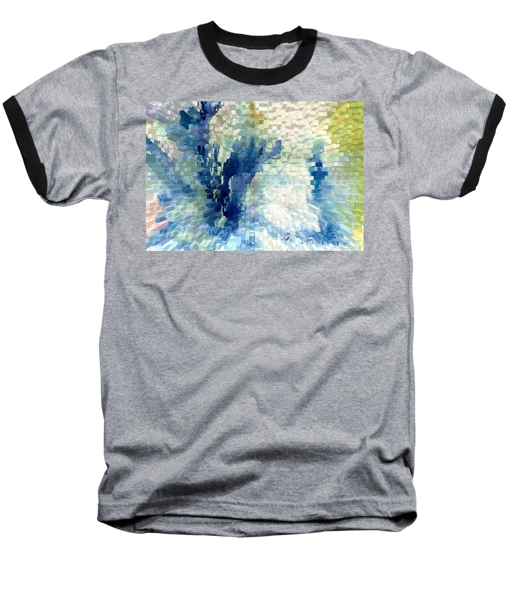 Abstract Baseball T-Shirt featuring the painting Extrude by Steve Karol