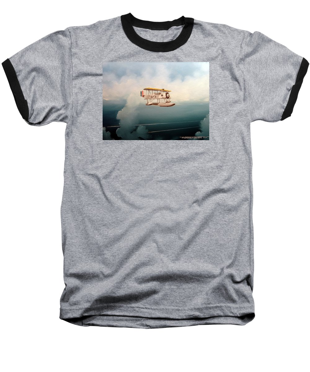 Military Baseball T-Shirt featuring the painting Eyes Of The Fleet by Marc Stewart