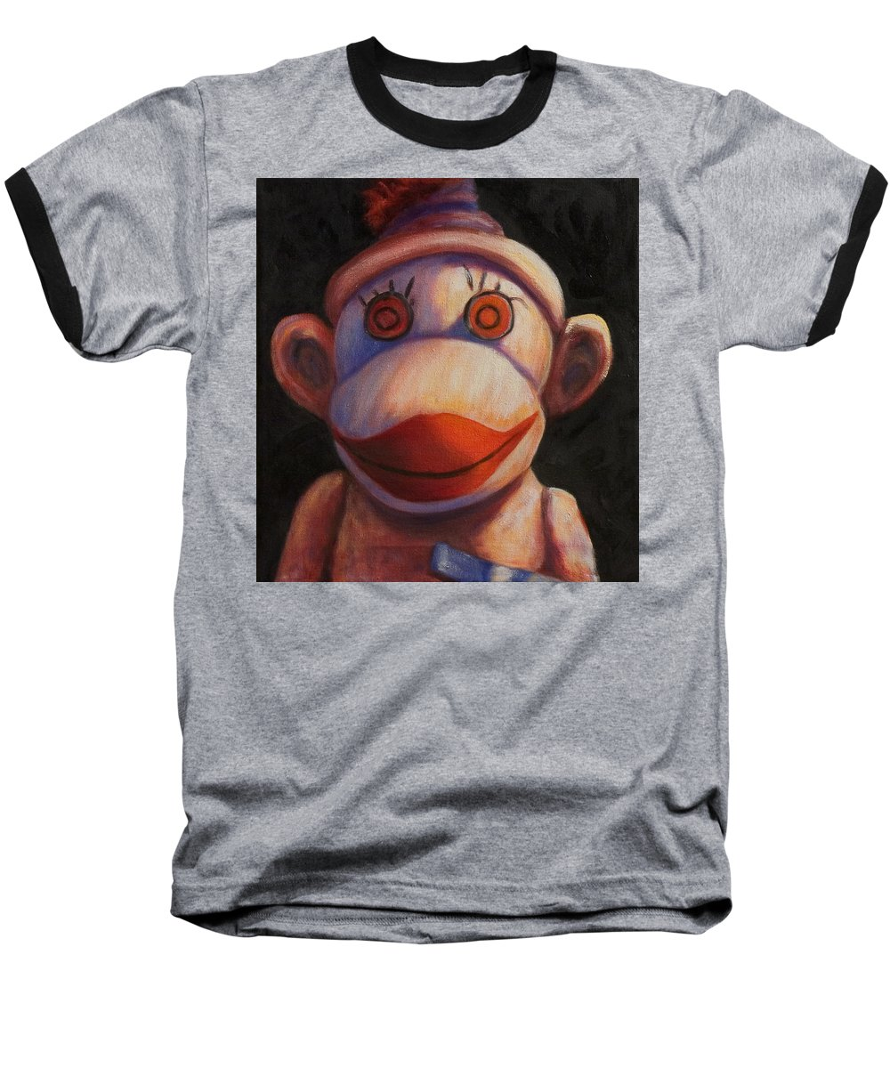 Children Baseball T-Shirt featuring the painting Face by Shannon Grissom