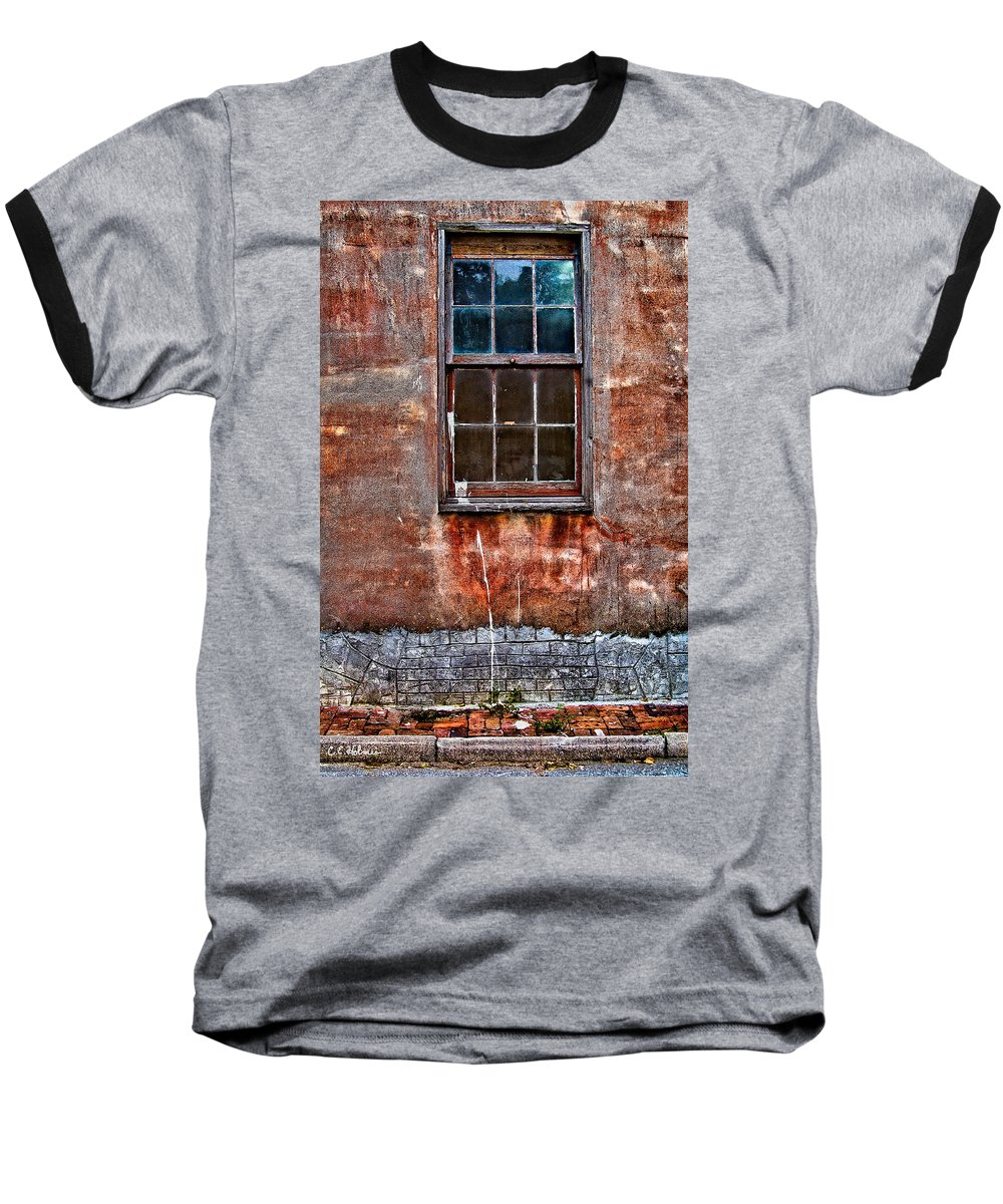 Window Baseball T-Shirt featuring the photograph Faded Over Time by Christopher Holmes