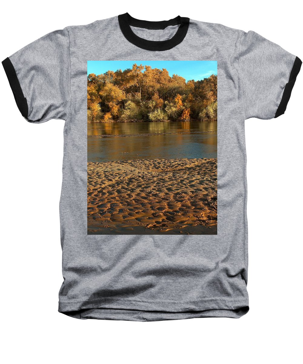 Fall Colors Baseball T-Shirt featuring the photograph Fall Colors On The Rio Grande 1 by Tim McCarthy