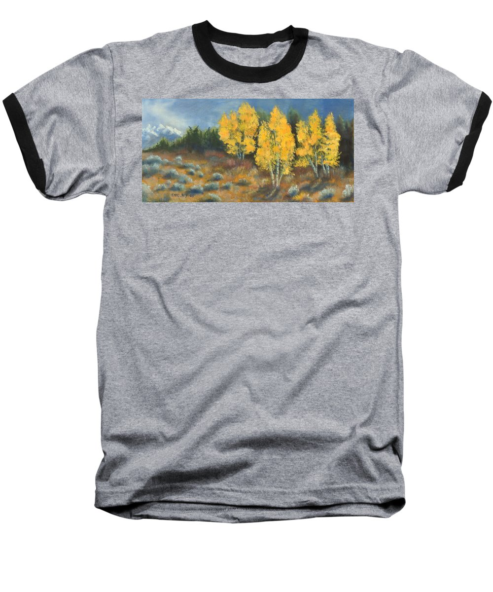 Landscape Baseball T-Shirt featuring the painting Fall Delight by Jerry McElroy