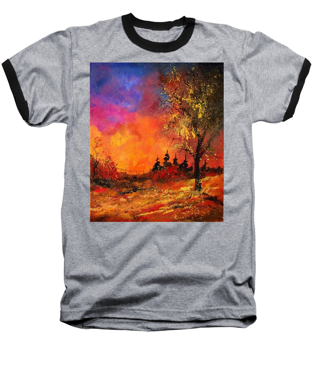 River Baseball T-Shirt featuring the painting Fall by Pol Ledent