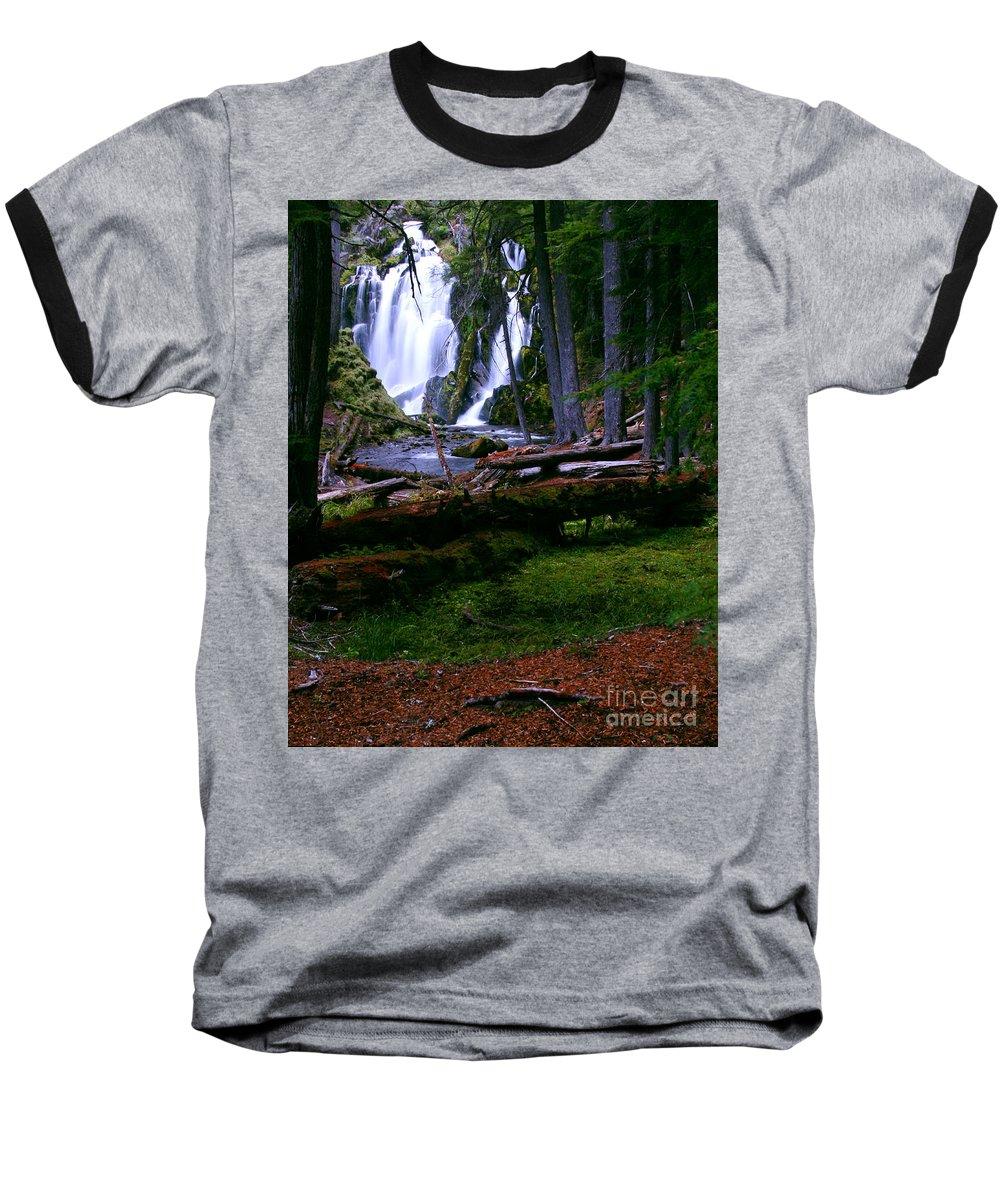 Waterfall Baseball T-Shirt featuring the photograph Fall Through by Peter Piatt