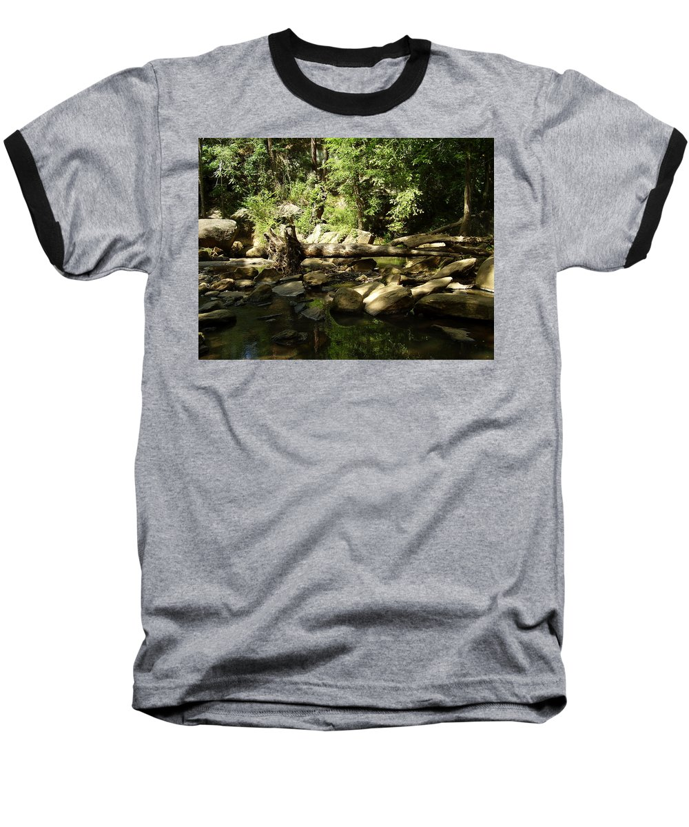 Falls Park Baseball T-Shirt featuring the photograph Falls Park by Flavia Westerwelle