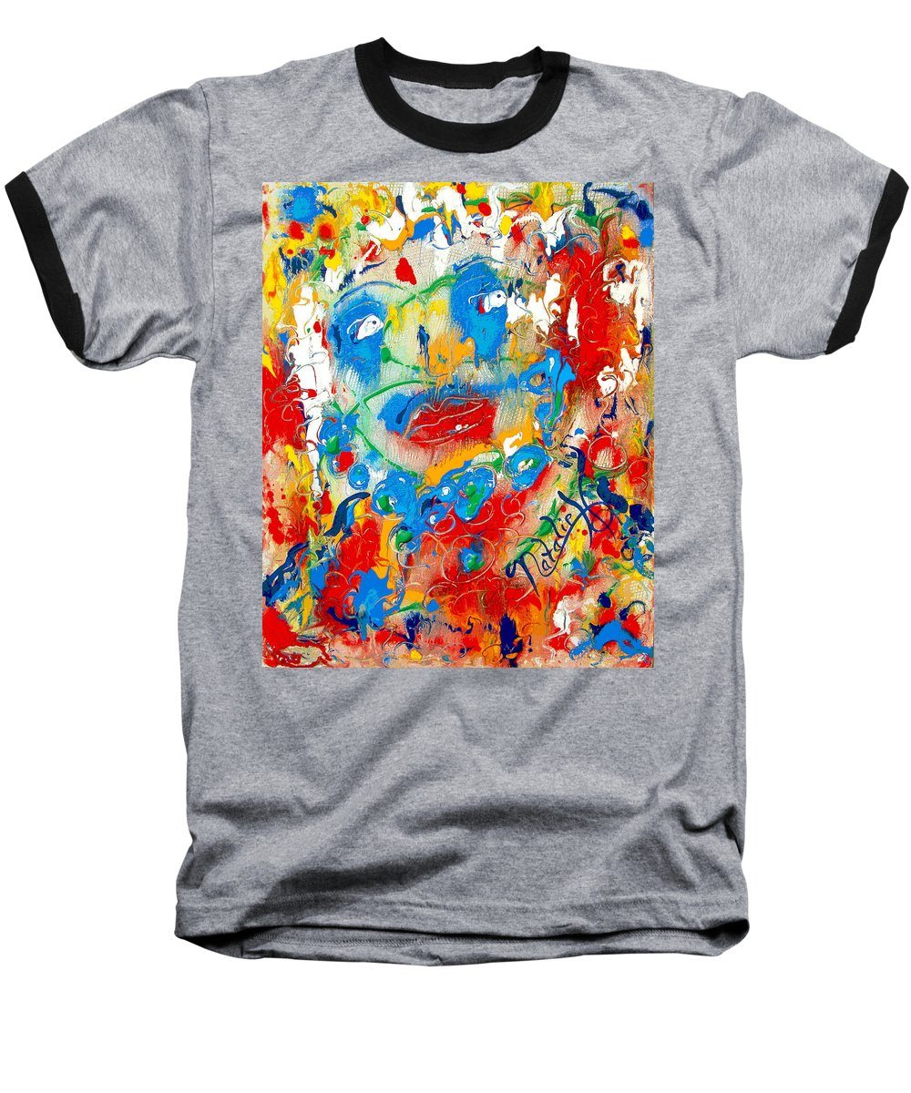 Woman Baseball T-Shirt featuring the painting Fantasia by Natalie Holland