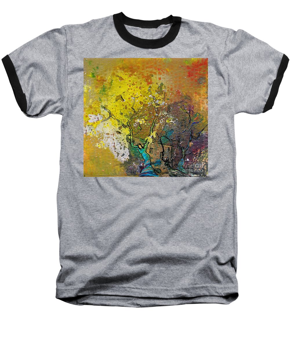 Miki Baseball T-Shirt featuring the painting Fantaspray 13 1 by Miki De Goodaboom
