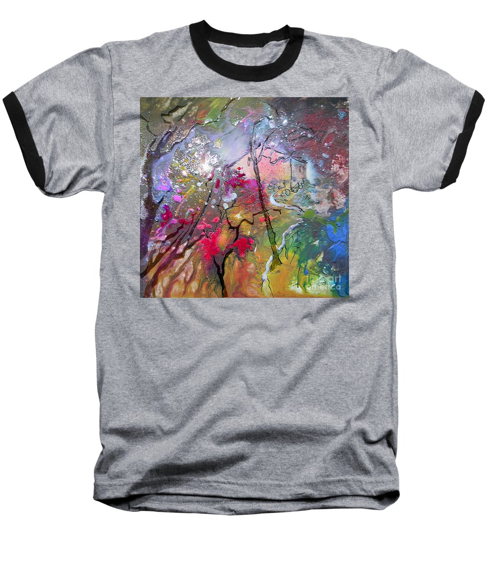 Miki Baseball T-Shirt featuring the painting Fantaspray 19 1 by Miki De Goodaboom