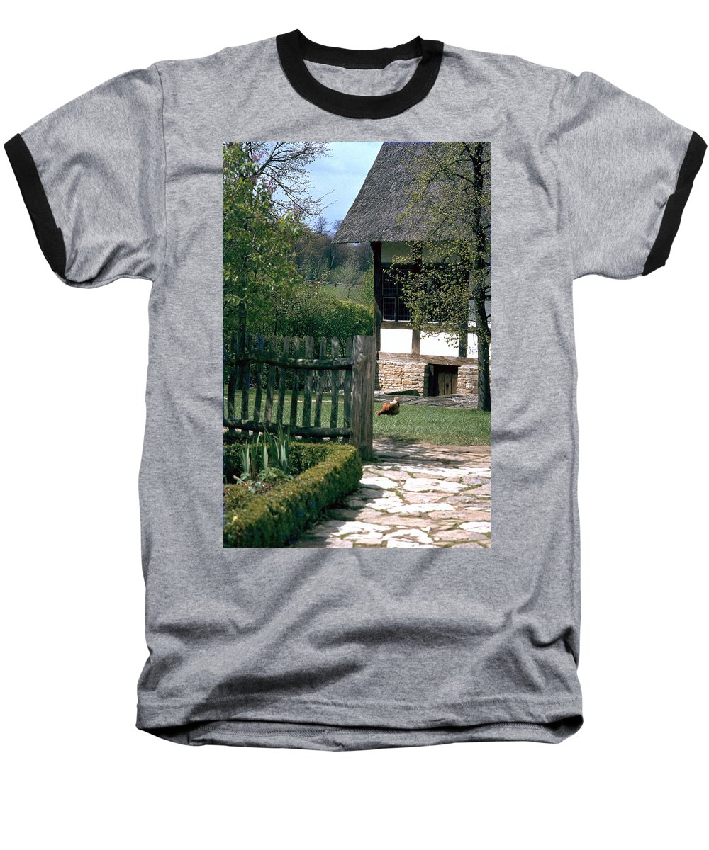 German Baseball T-Shirt featuring the photograph Farm by Flavia Westerwelle