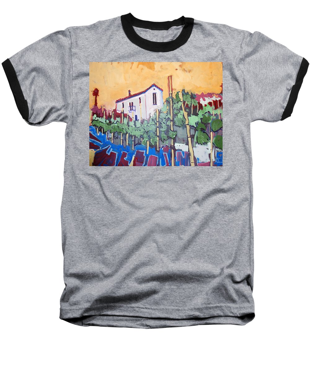 Farm House Baseball T-Shirt featuring the painting Farm House by Kurt Hausmann