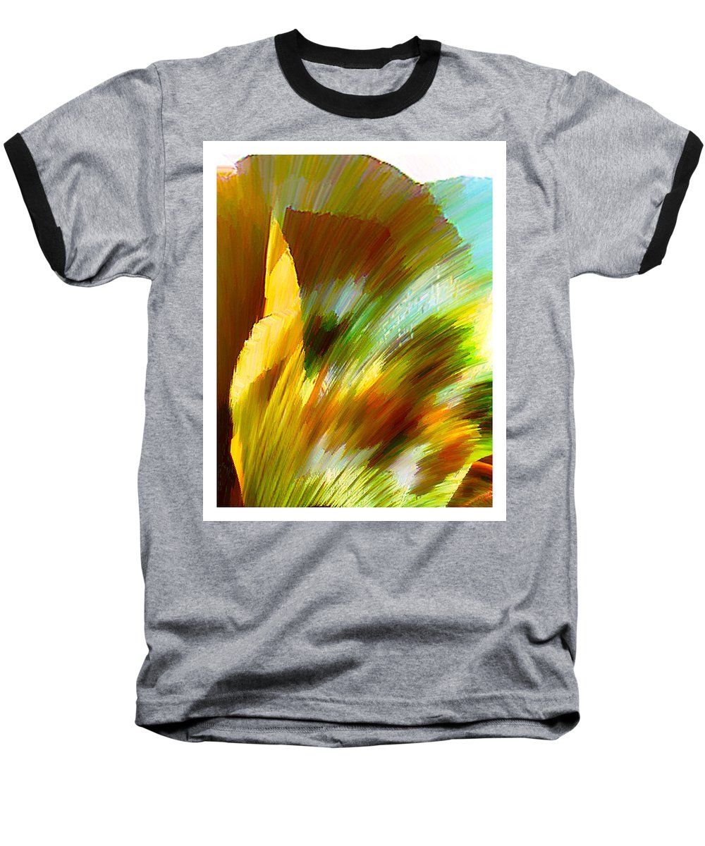 Landscape Digital Art Watercolor Water Color Mixed Media Baseball T-Shirt featuring the digital art Feather by Anil Nene
