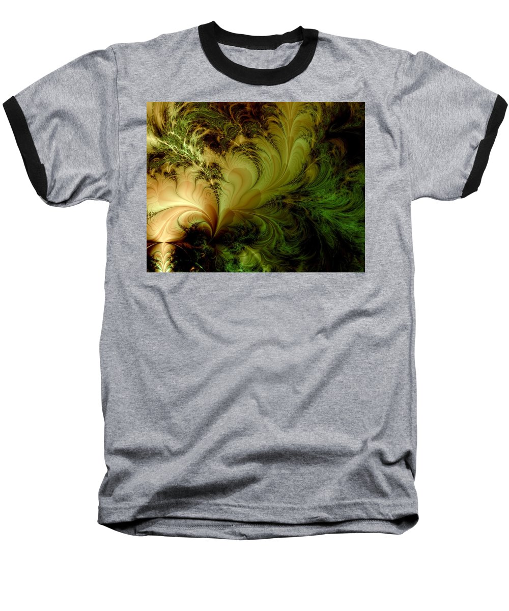 Feather Baseball T-Shirt featuring the digital art Feathery Fantasy by Casey Kotas