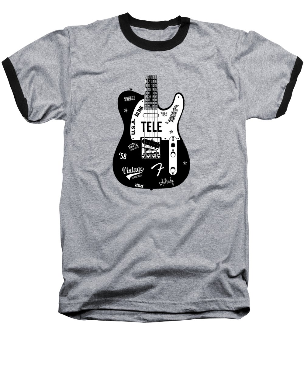 Fender Telecaster Baseball T-Shirt featuring the photograph Fender Telecaster 58 by Mark Rogan