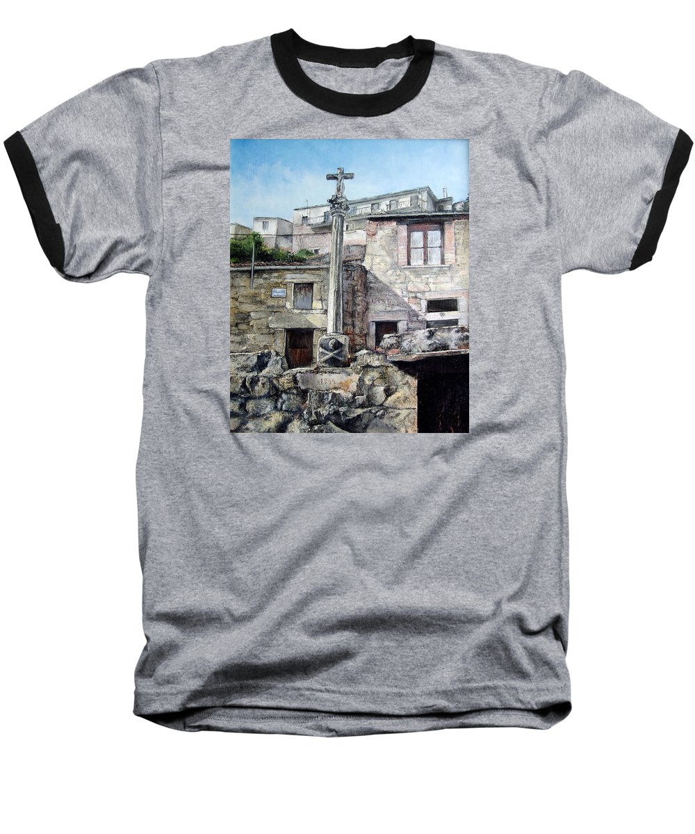 Fermoselle Baseball T-Shirt featuring the painting Fermoselle.-crucero by Tomas Castano