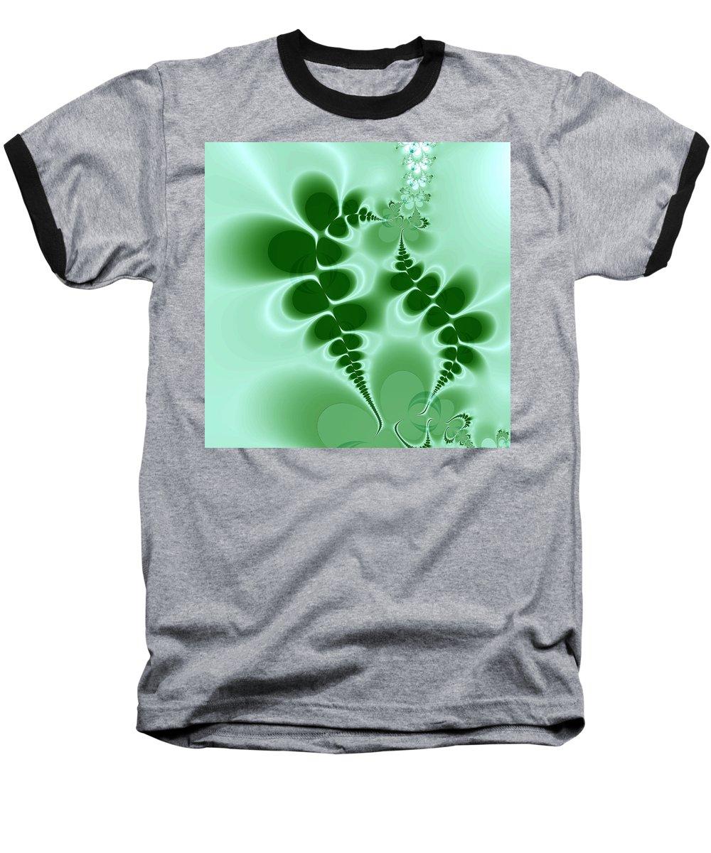 Digital Art Baseball T-Shirt featuring the digital art Ferns by Amanda Moore