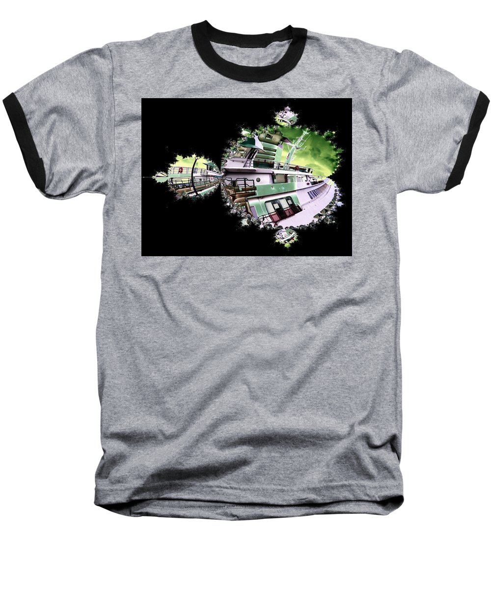 Seattle Baseball T-Shirt featuring the digital art Ferry In Fractal by Tim Allen