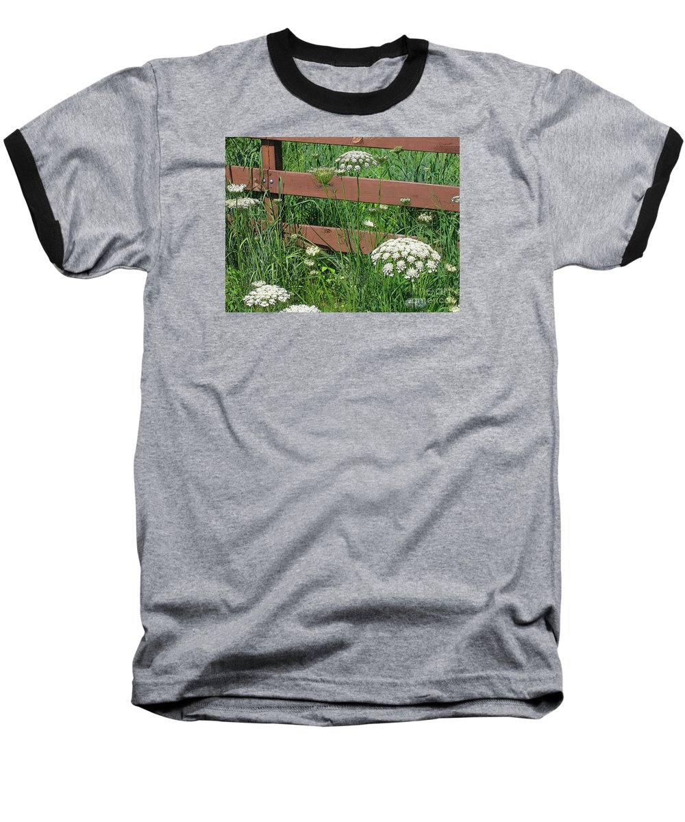 Flower Baseball T-Shirt featuring the photograph Field Of Lace by Ann Horn