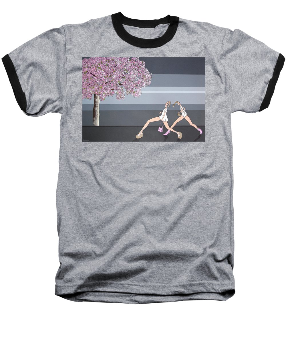 Girls Baseball T-Shirt featuring the painting Fifteen by Patricia Van Lubeck