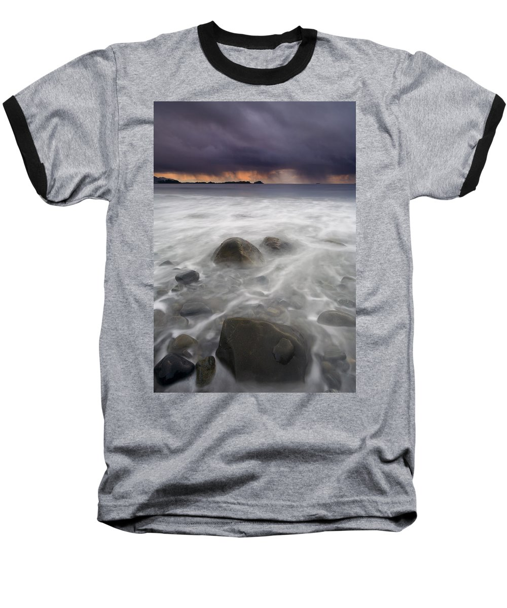 Storm Baseball T-Shirt featuring the photograph Fingers Of The Storm by Mike Dawson