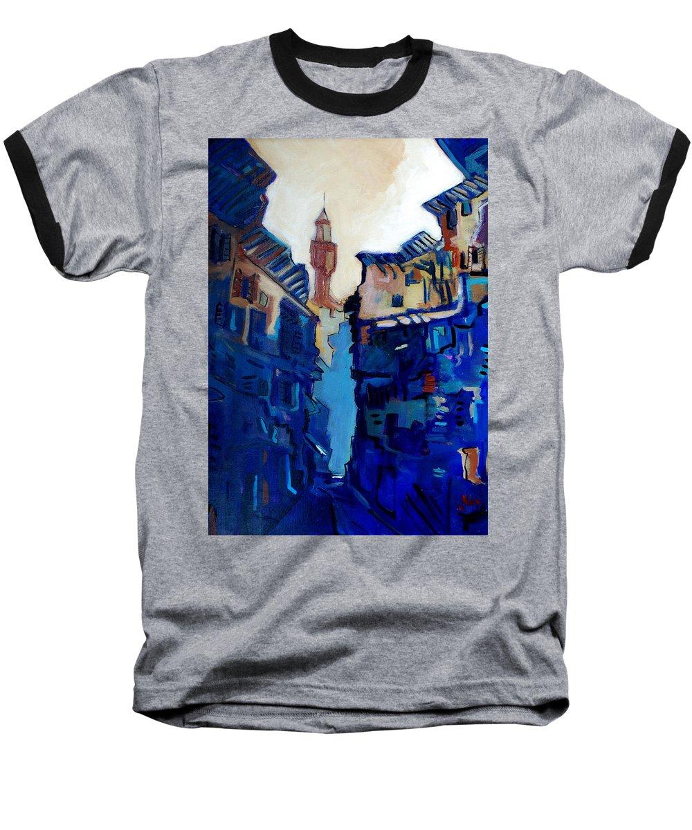 Florence Baseball T-Shirt featuring the painting Firenze Street Study by Kurt Hausmann