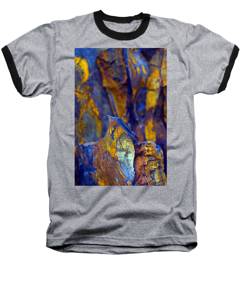 Texture Baseball T-Shirt featuring the photograph First Cut Is The Deepest by Skip Hunt